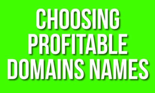 Choosing Profitable Domain Names